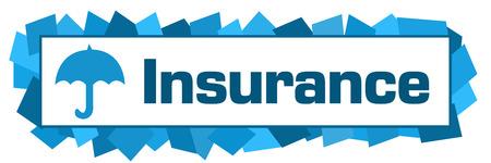 Insurance Blue Random Shapes Horizontal