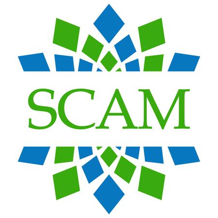 Scam Green Blue Circular