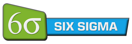 Six Sigma Blue Green Triangle Horizontal Stock Photo