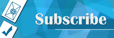 Subscribe Random Shapes Blue Background