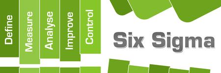 Six Sigma DMAIC Green Stripes Text
