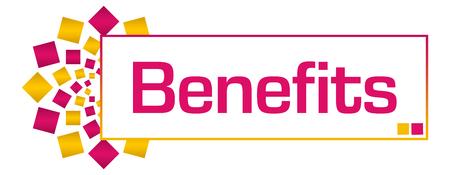 Benefits Pink Gold Circular Bar