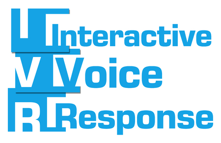 IVR - Interactive Voice Response Blue Abstract Stripes
