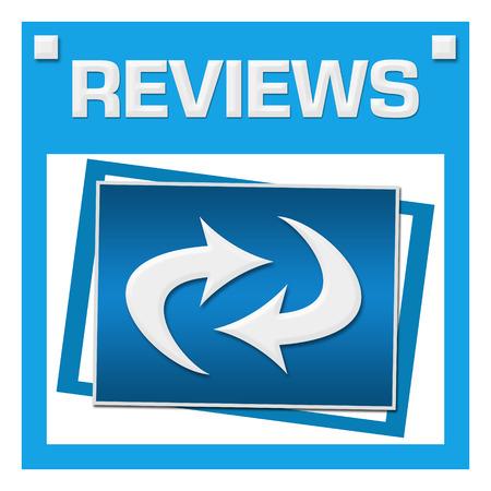 reviews: Reviews Blue Squares Inside Stock Photo