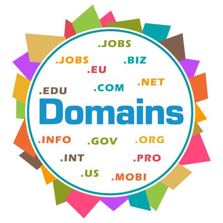 domains: Domains Word Cloud Colorful Abstract Circular