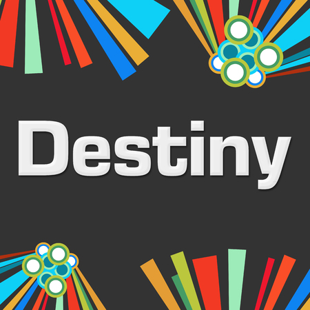 destiny: Destiny Dark Colorful Background Stock Photo