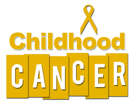 Childhood Cancer Yellow With Ribbon Stock Photo - 77813380