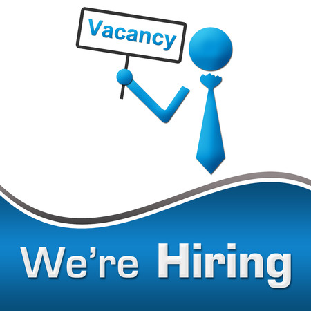 We Are Hiring Vacancy Board Blue Square