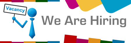 We Are Hiring Vacancy Board Colorful Abstract Shapes