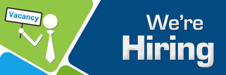We Are Hiring Vacancy Board Green Blue Rounded Squares