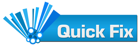 Quick Fix Blue Graphical Horizontal 版權商用圖片
