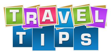 Voyage conseils carrés colorés stripes Banque d'images - 78418399