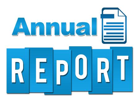 연례 보고서 전문 파란색 기호