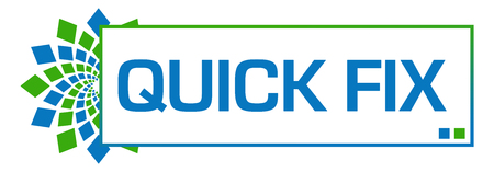Quick Fix Green Blue Circular Bar 版權商用圖片