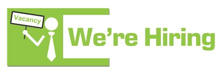 We Are Hiring Vacancy Board Green Abstract Bar