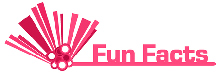 Fun Facts Pink Graphical Bar Banco de Imagens