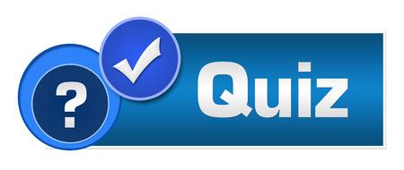 Quiz Two Blue Circles Standard-Bild