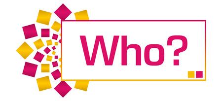 Who Pink Gold Circular Bar Stock Photo