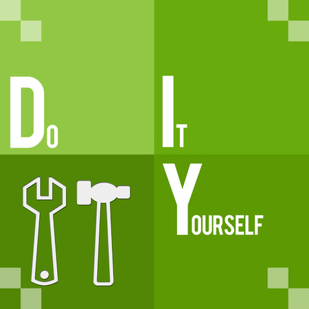 Diy tips meaning do it yourself tricks stock photo picture and diy do it yourself green four blocks photo solutioingenieria Images