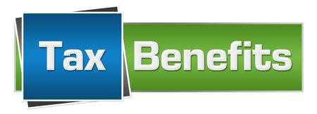 Tax Benefits Green Blue Horizontal