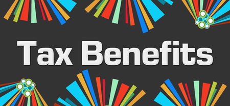 Tax Benefits Dark Colorful Elements Background