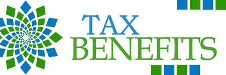 Tax Benefits Green Blue Circular Horizontal