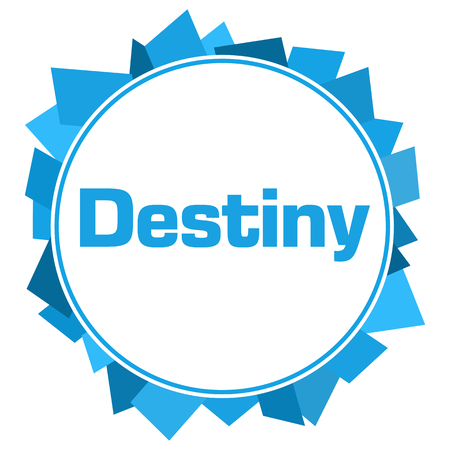 destiny: Destiny Blue Random Shapes Circle