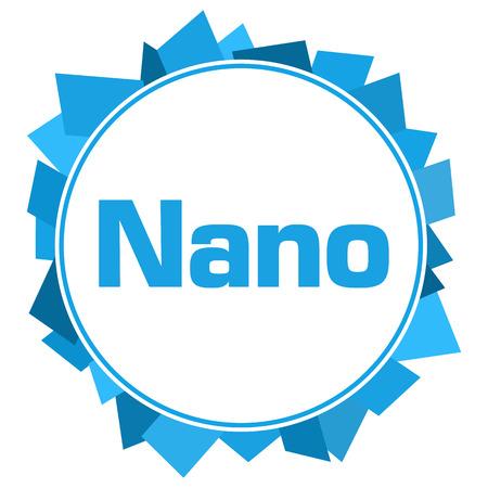 Nano Blue Abstract Shapes Circular