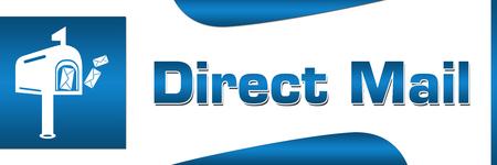 Direct Mail Blue Square Horizontal Stock Photo