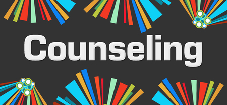 advice: Counseling Dark Colorful Elements Background