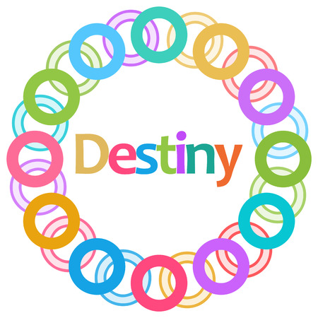 destiny: Destiny Colorful Rings Circular Stock Photo