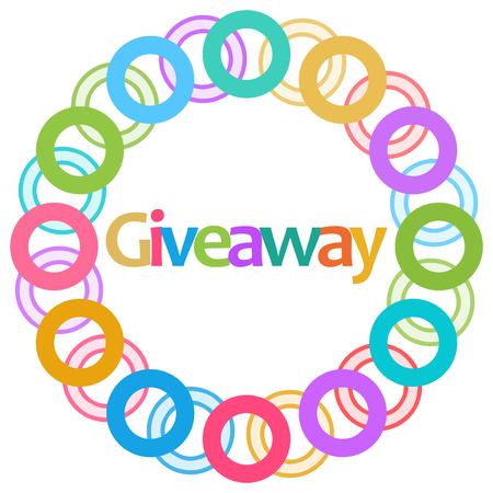 Giveaway Colorful Rings Circular