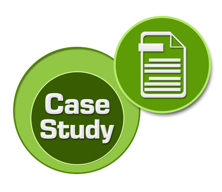 case study: Case Study Green Circles Stock Photo