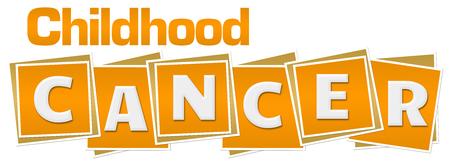 Childhood Cancer Yellow Blocks Stock Photo - 80842387