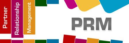 PRM - Partner Relationship Management Colorful Stripes Rounded Squares