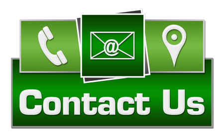 Contact Us Green Squares On Top