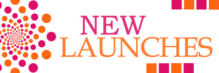 premier: New Launches Pink Orange Dots Horizontal