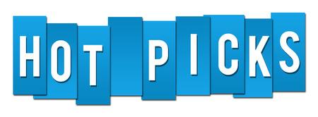 picks: Hot Picks Blue Stripes Stock Photo