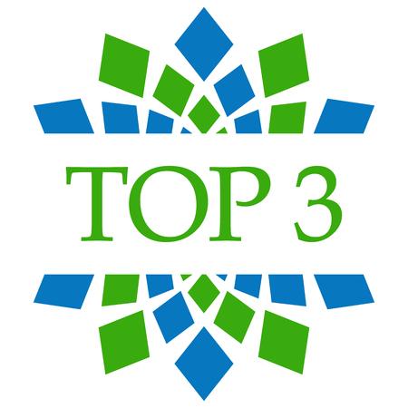 Top Three Green Blue Circular