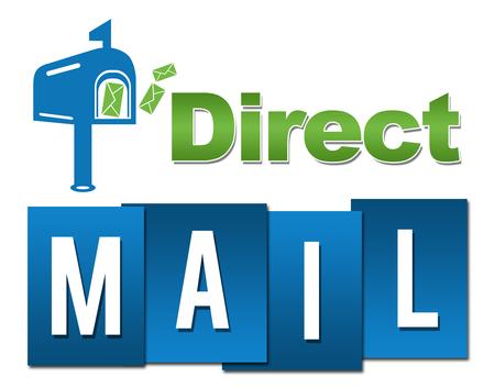 Direct Mail Professional Green Blue With Symbol 版權商用圖片 - 81472809