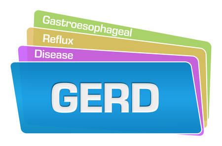 GERD Text Colorful Squares Stack Stock Photo