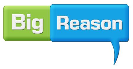 Big Reason Green Blue Comment Symbol
