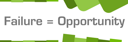 Failure Is Opportunity Green Abstract Shapes Background Stock Photo