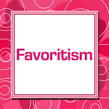 Favoritism Pink Rings Square Stock Photo