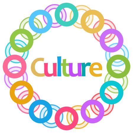 Culture Colorful Rings Circular Stock Photo