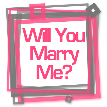 Will You Marry Me Pink Grey Frame