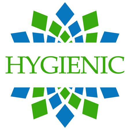 Hygienic Green Blue Circular