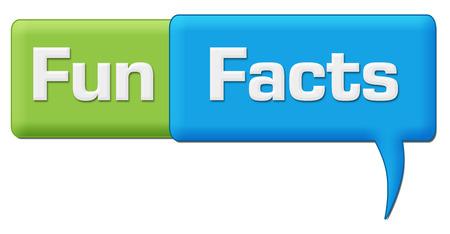 Fun Facts Green Blue Comment Symbol Stock fotó