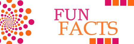 Fun Facts Pink Orange Dots Horizontal