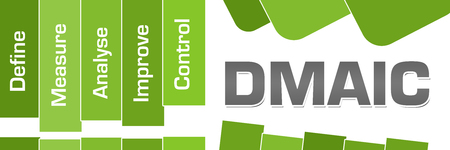 DMAIC Green Stripes Text